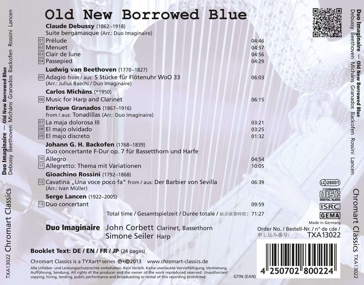 CD-Backcover Old New Borrowed Blue