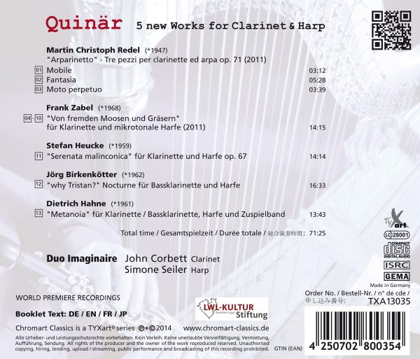 CD-Backcover Quinär