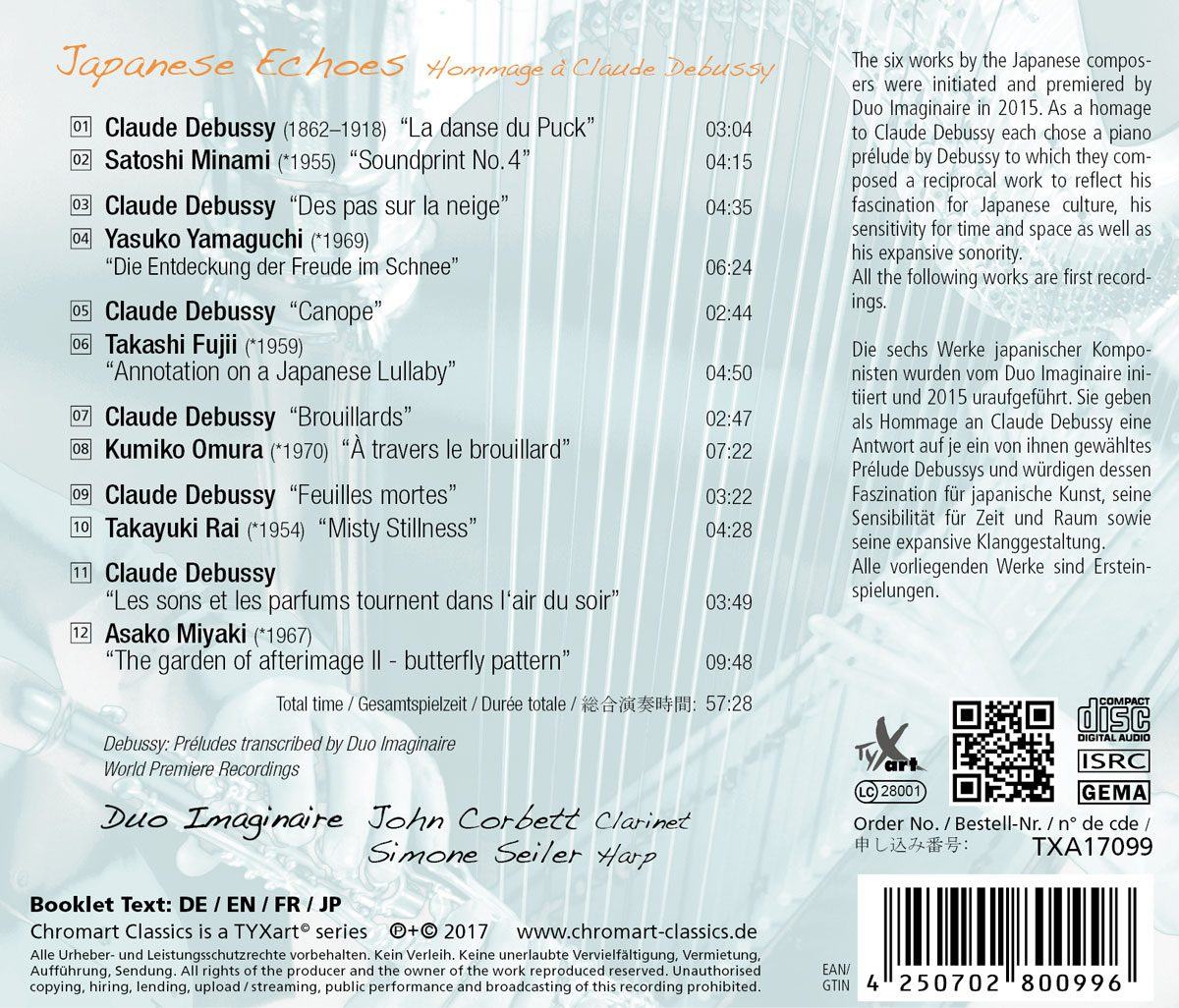 CD-Backcover Japanese Echoes